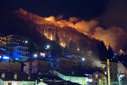 Incendio tra Barzio e Concenedo - 27 dicembre 2016