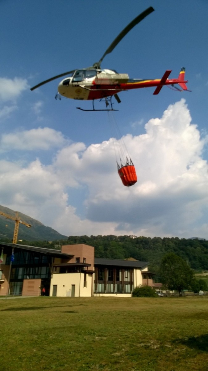 Incendio Rocca di Baiedo 21.07.2015