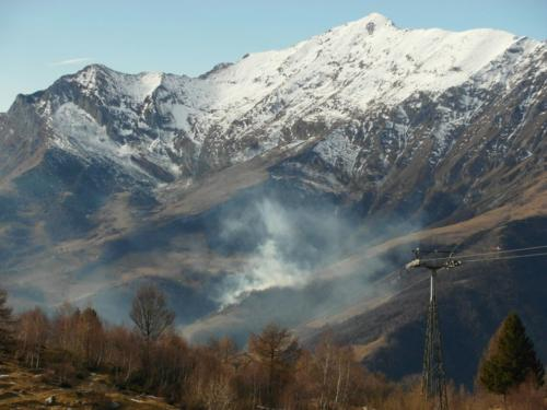 Incendio Grigna 11.01.2015